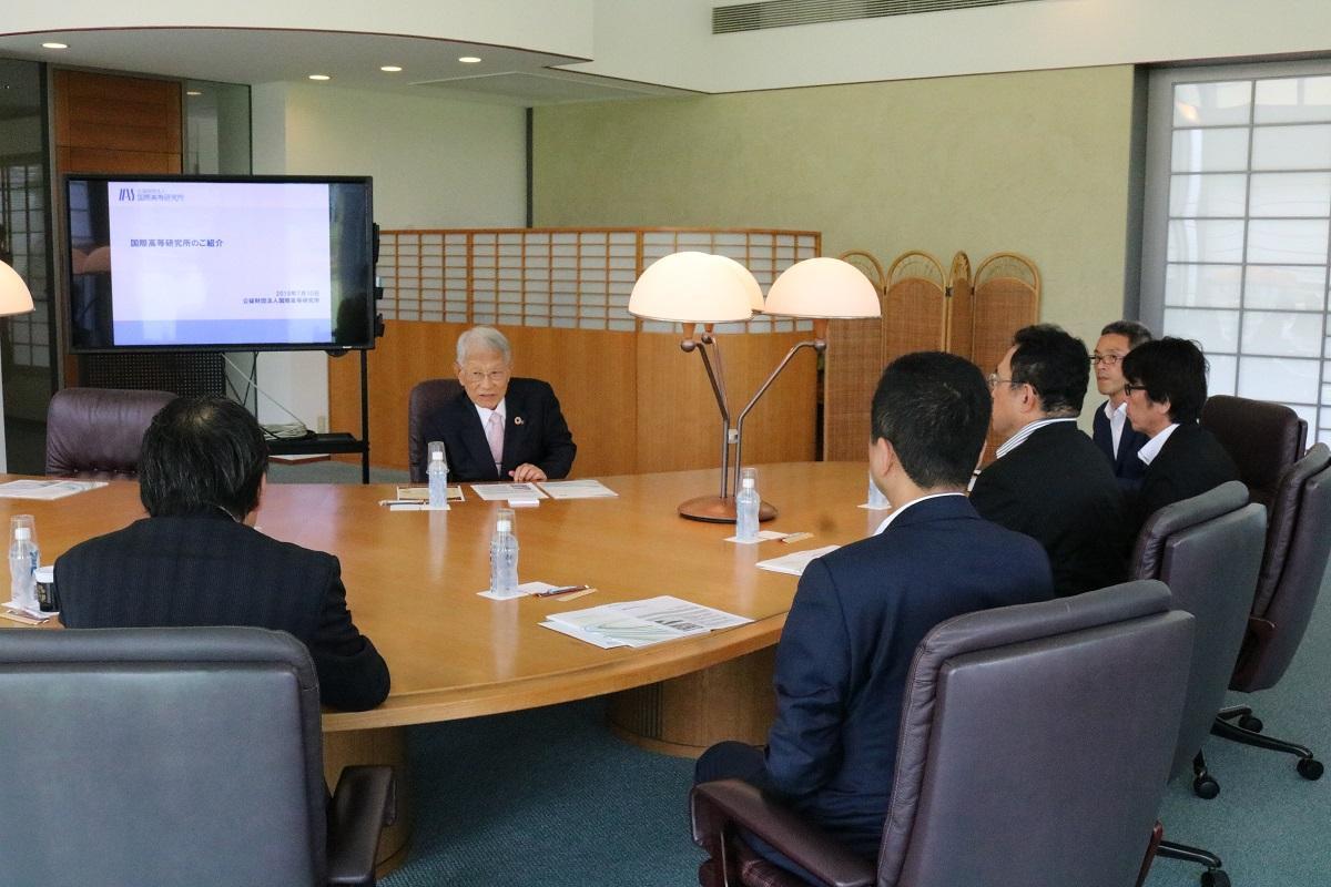 2025年日本国際博覧会協会 事務総長ら一行がけいはんな学研都市を視察