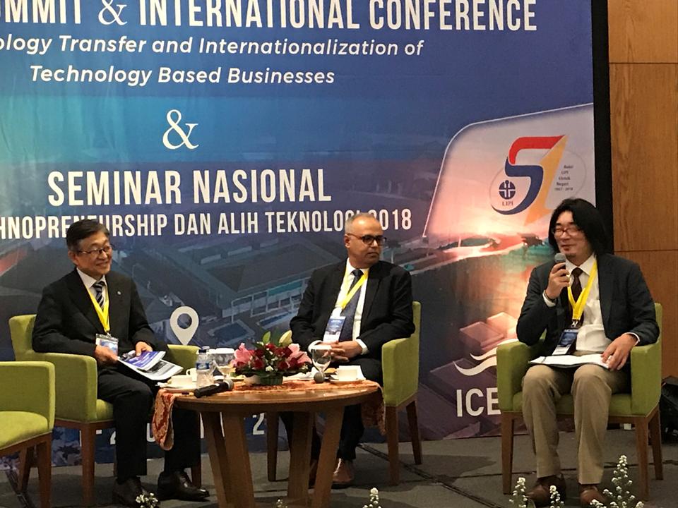 インドネシア・イノベーションサミット2018に参加、招待講演を実施(2018年11月1-2)